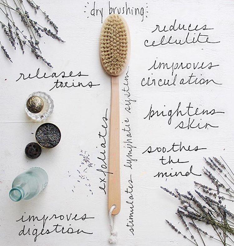 Dry brushing benefits