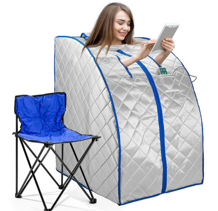 IdealSauna Infrared FAR IR Negative Ion Portable Indoor Personal Spa Sauna