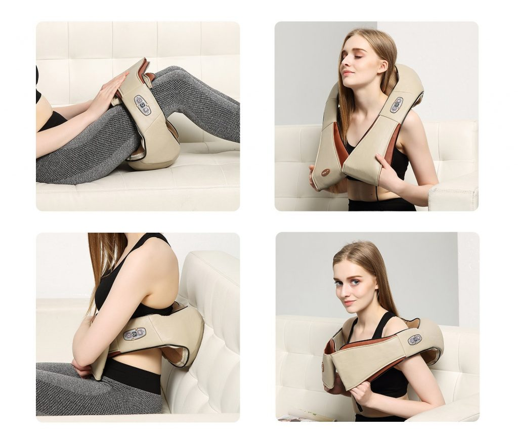 FIVE S Shiatsu Neck and Back Massager styles