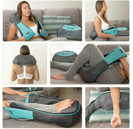 InvoSpa Shiatsu Back Neck and Shoulder Massager with Heat3