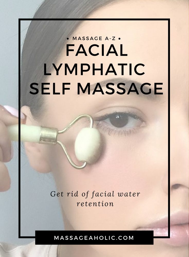 Lymphatic facial self massage, get rid of facial water retention