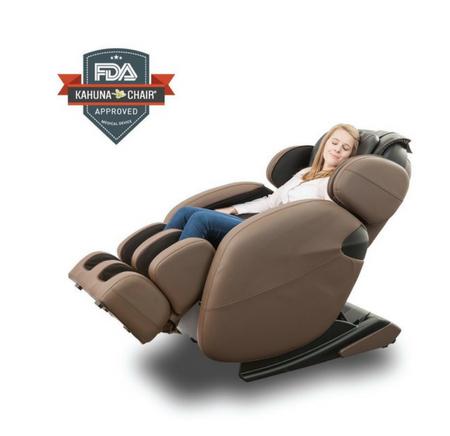 Space-Saving Zero-Gravity Full-Body Kahuna Massage Chair Recliner