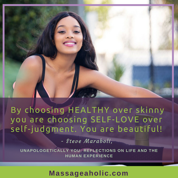 Self-care quote healthy over skinny