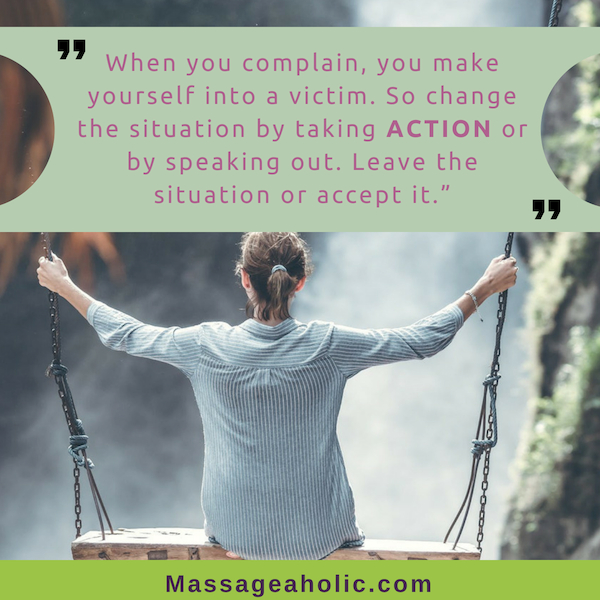 Self-care quote on taking action