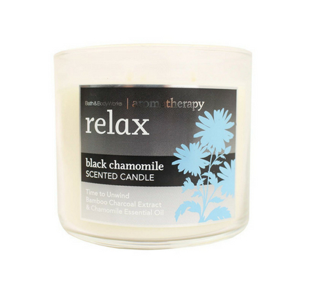 Bath & Body Works 3-Wick Black Chamomile Candle