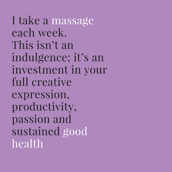 Massage for good health quote