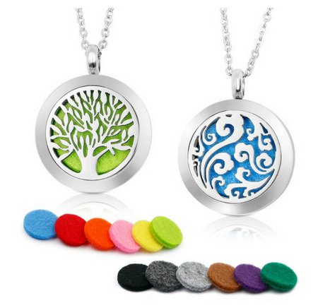 RoyAroma Aromatherapy Essential Oil Diffuser Necklaces