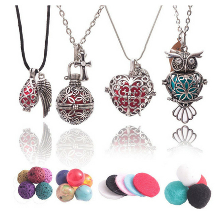 Seven Chakras Diffuser Necklace set