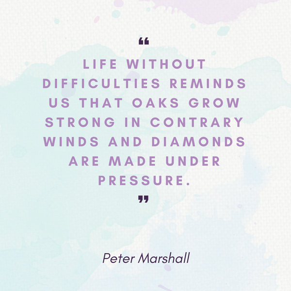 life difficulties Peter Marshall