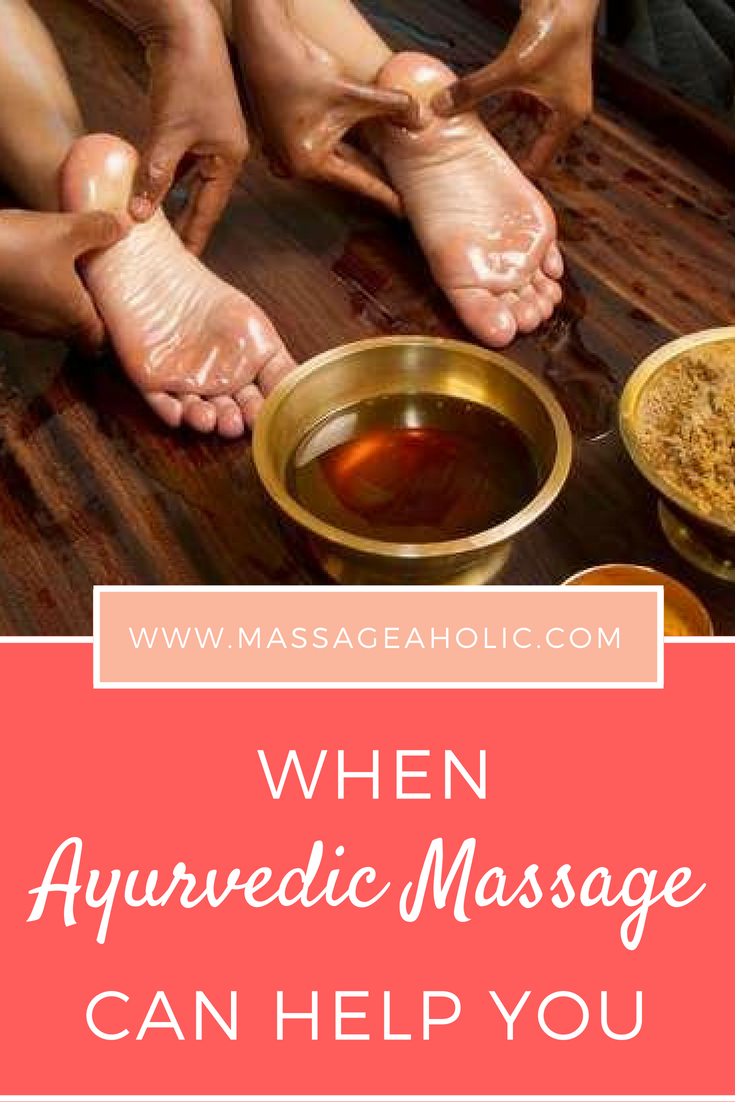 Ayurvedic massage for hair loss, for pain, well being for relaxation and digestive disorders