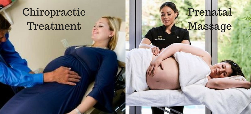 The difference between prenatal massage and chiropractic treatment