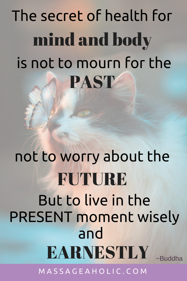 Live in the present mindfulness quote