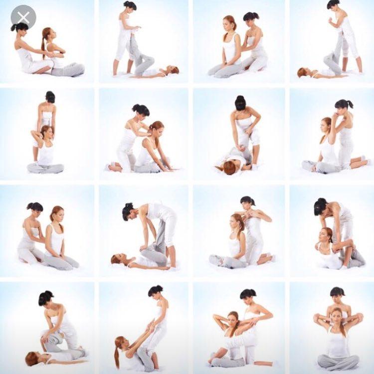 Thai yoga massage poses