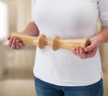 Wood therapeutic massage back roller (1)
