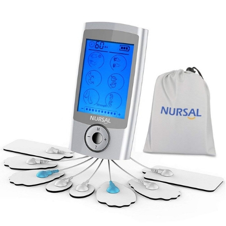 NURSAL TENS Unit Rechargeable Electronic Pain Relief Massager