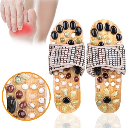 Acupressure Massage Slippers with Natural Stone