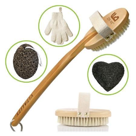 Plastic-Free Natural Exfoliating Brush Set by ZEN ME