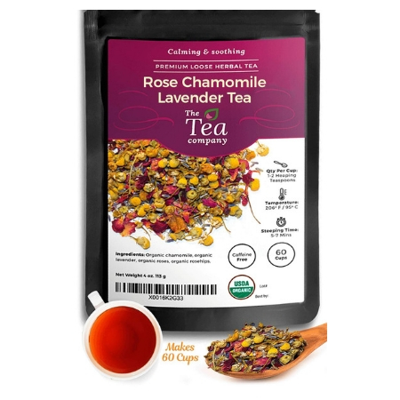 The Tea Company Rose Chamomile Lavender Herbal Tea