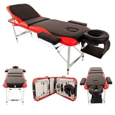 Merax Aluminium 3 Part Folding Portable Massage Table