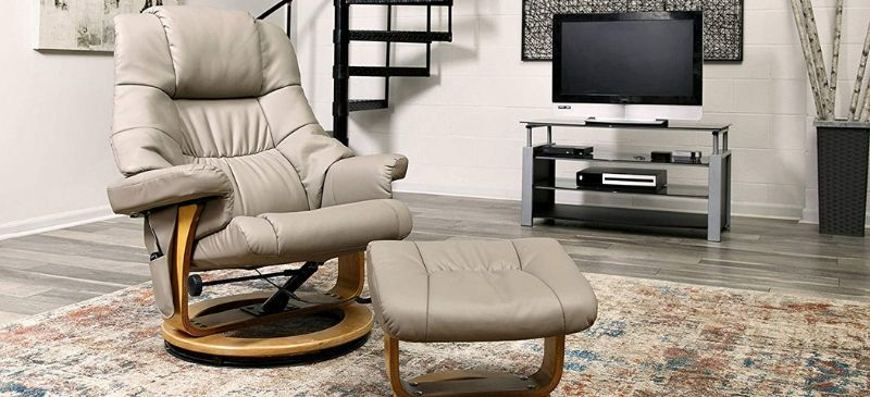 Relaxzen 8 Motor Massage Recliner With Ottoman