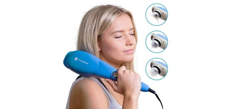 Theraflow deep tissue percussion massager review