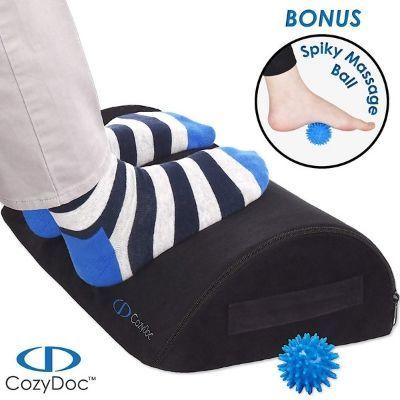 COZYDOC Ergonomic Foot Rest Cushion Under Desk + Massage Ball