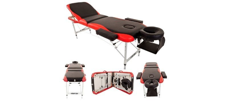 Merax Aluminium 3 Part Folding Portable Massage Table Review