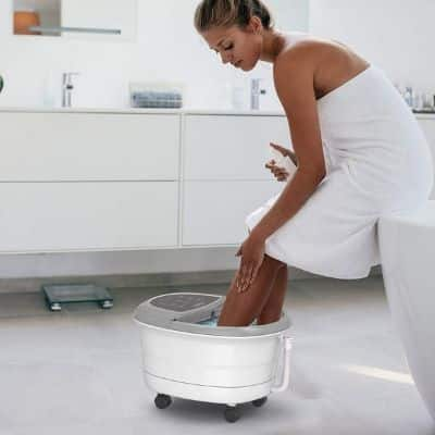 Gideon Luxury Therapeutic Heated Foot Spa Bath Massager