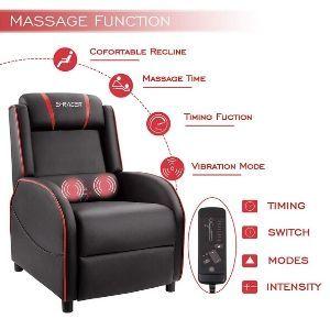 Homall Gaming Recliner Vibrating Chair